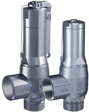 Клапан предохранительный нержавеющая сталь резьбовой Goetze 460-tGFL-DN20-m/f-20/20-PTFE