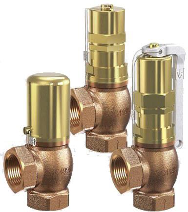 Клапан перепускной бронзовый резьбовой Goetze 618-sGFO-DN32-f/f-32/32-NBR-2/12