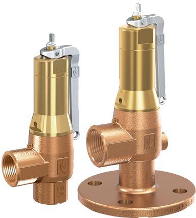 Клапан предохранительный бронзовый резьбовой Goetze 642-mGFL-DN40-f/f-40/40-PTFE/FKM