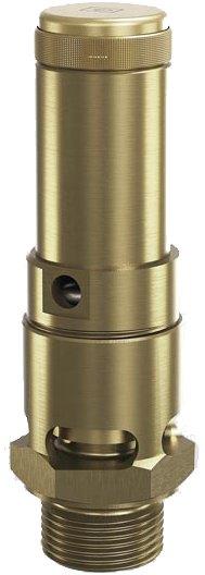 Клапан предохранительный латунный резьбовой Goetze 810-sGK-DN32-NPT-m/–-32/-FKM