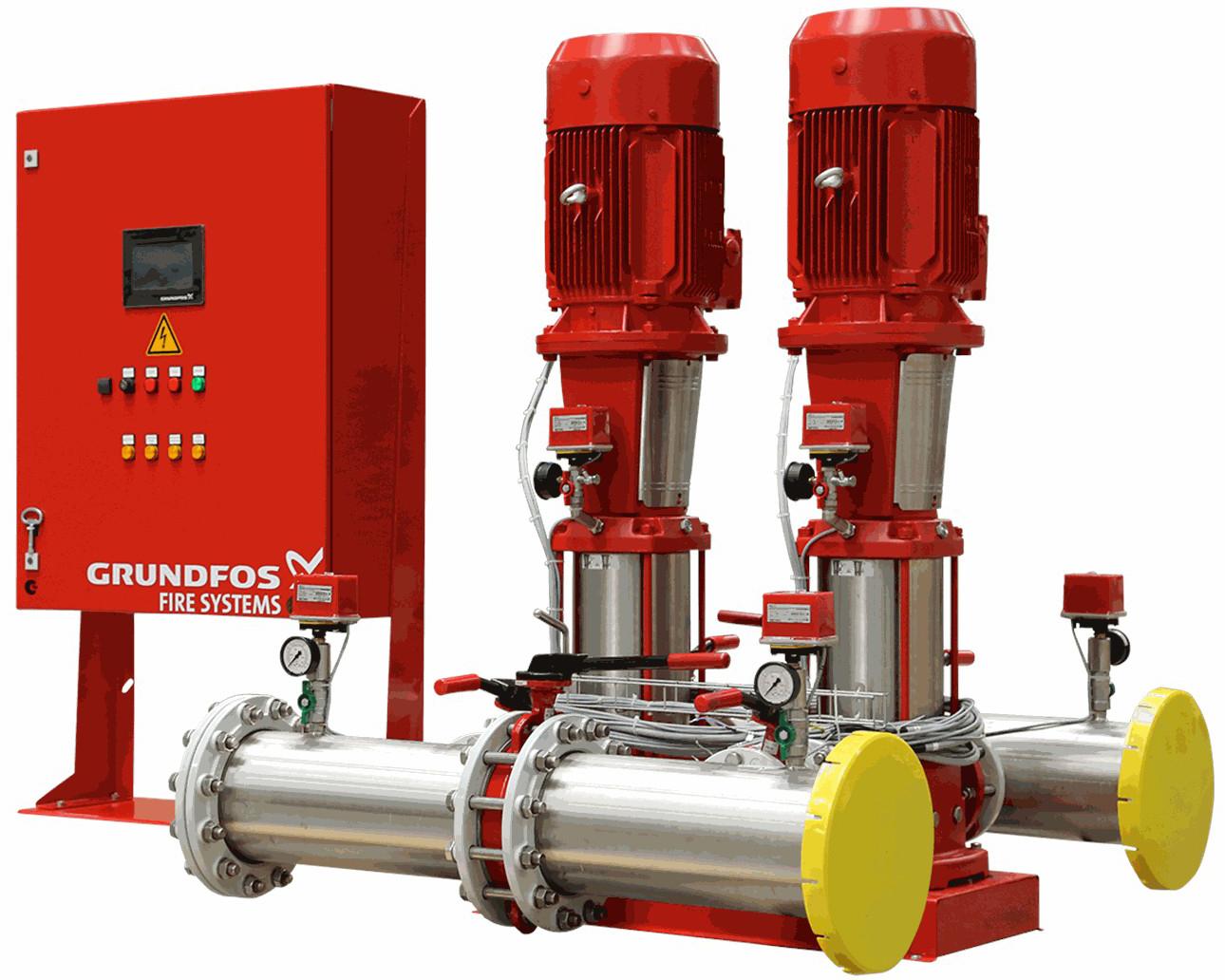 Установка пожаротушения Grundfos HYDRO MX 2/1 CR32-6