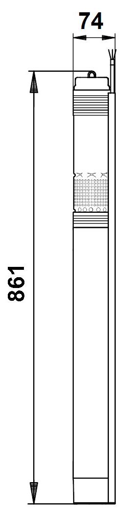 Габаритный чертеж Grundfos 96510208