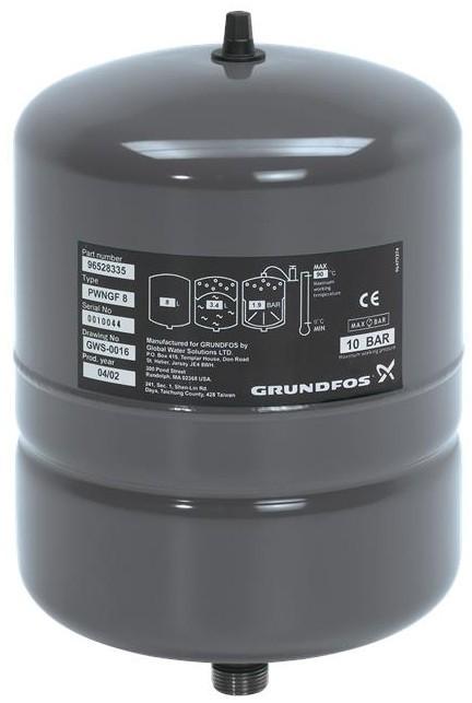 Мембранный бак Grundfos GT-H-8L V PN10