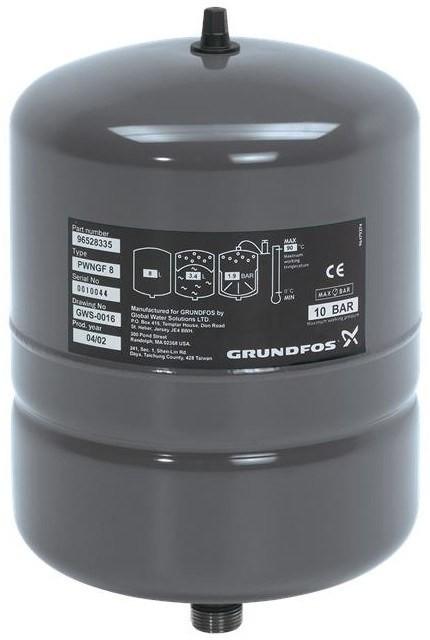 Мембранный бак Grundfos GT-H-12L V PN16