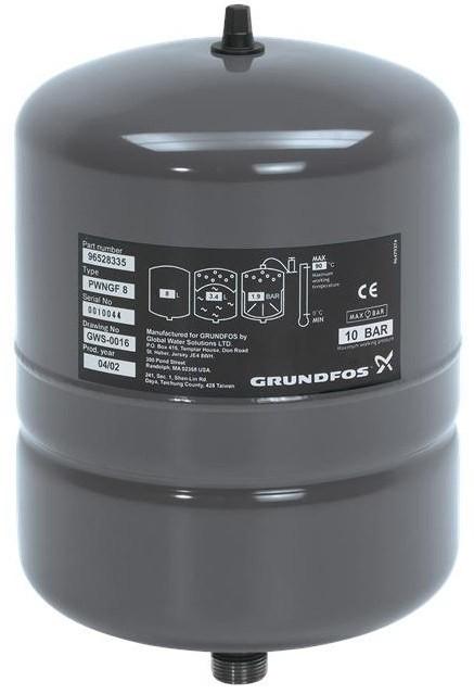 Мембранный бак Grundfos GT-H-24L V PN10