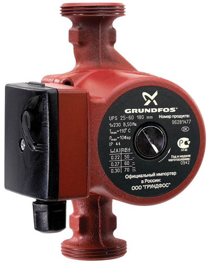 Циркуляционный насос Grundfos UPS 40-80 F