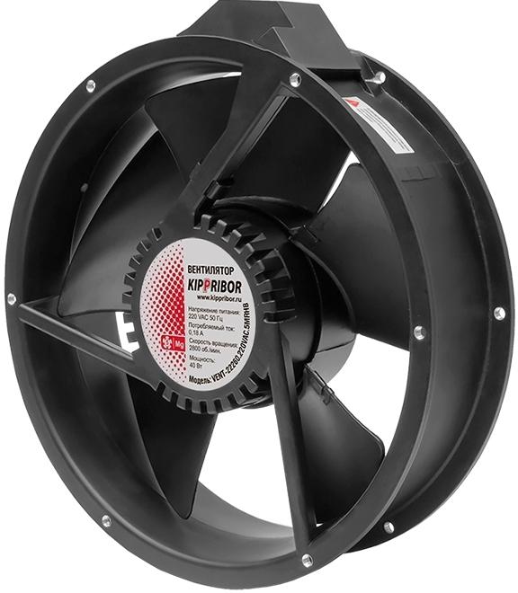 Промышленный осевой вентилятор KIPPRIBOR серии VENT-25490-24VDC-3MRHB