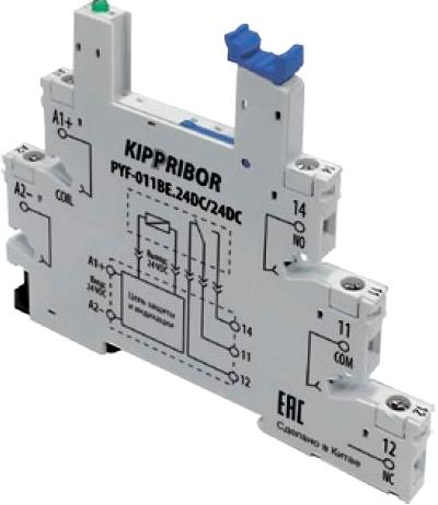 Монтажная колодка KIPPRIBOR PYF-011BE-24DC-24DC
