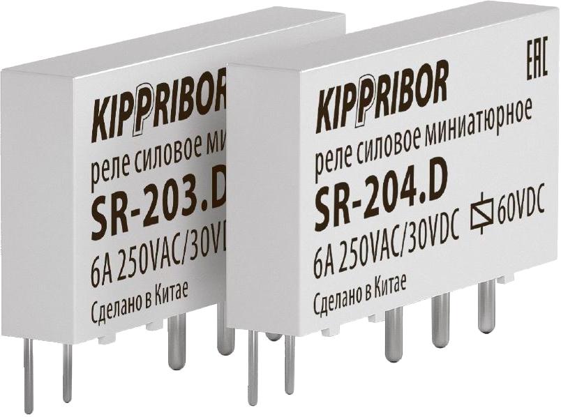 Интерфейсное промежуточное реле KIPPRIBOR SR-204-D