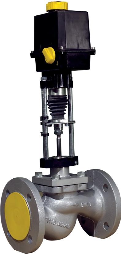 Клапан проходной односедельный с ЭИМ КПСР Групп КПСР1-DN25-PN40-1-1100-ВЧ-PN25-1-220-У