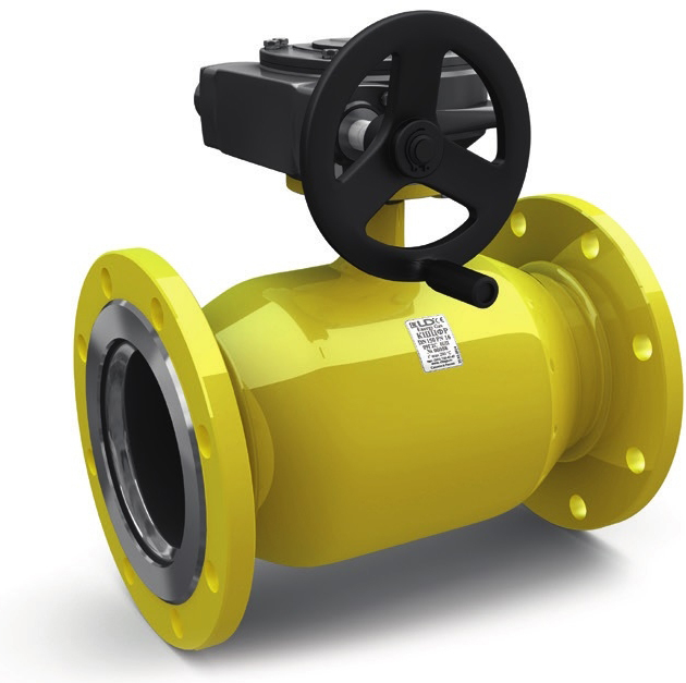 Кран шаровой полнопроходной фланцевый для газа LD КШЦФР GAS DN350 PN16
