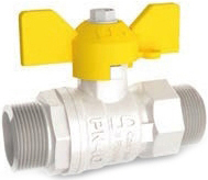 Кран шаровой латунный резьбовой для газа LD Pride 47.20. GAS