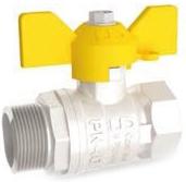 Кран шаровой латунный резьбовой для газа LD Pride 47.15..GAS