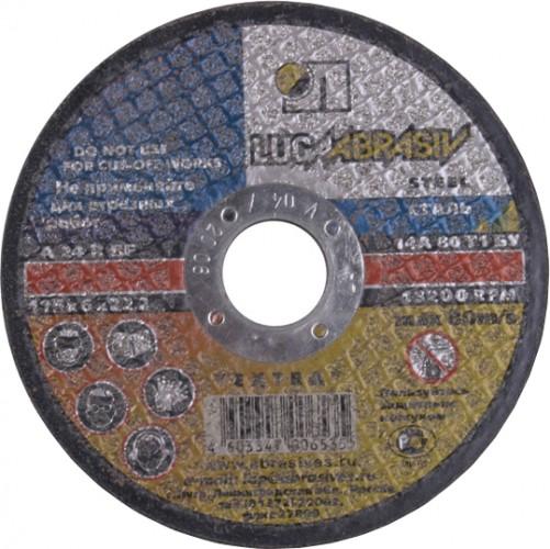 Шлифовальный круг по металлу Луга 125х6х22.2 A 24 R BF (14А БУ 80) круг зачист.мет. [D11201252260000]