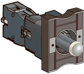 Основание с LED модулем подсветки и контактным блоком MEYERTEC MTB2-EW635 (комплект 10 шт)
