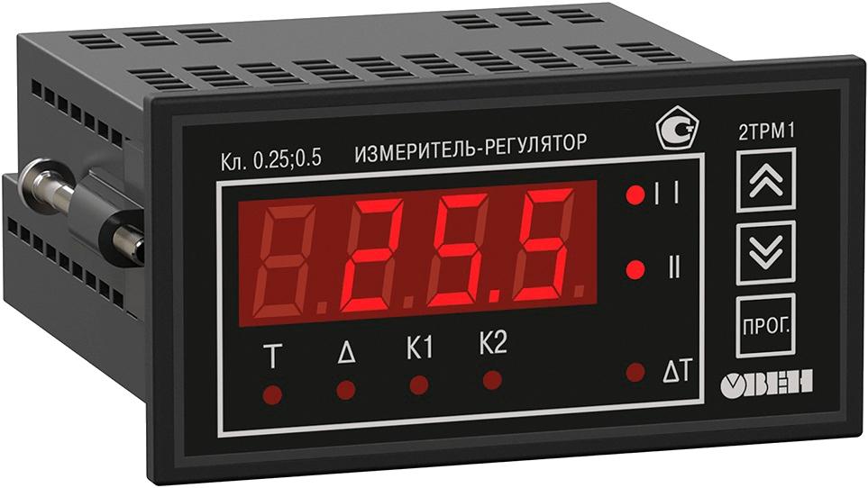 Двухканальный регулятор с универсальным входом ОВЕН 2ТРМ1-Щ2.У.РР