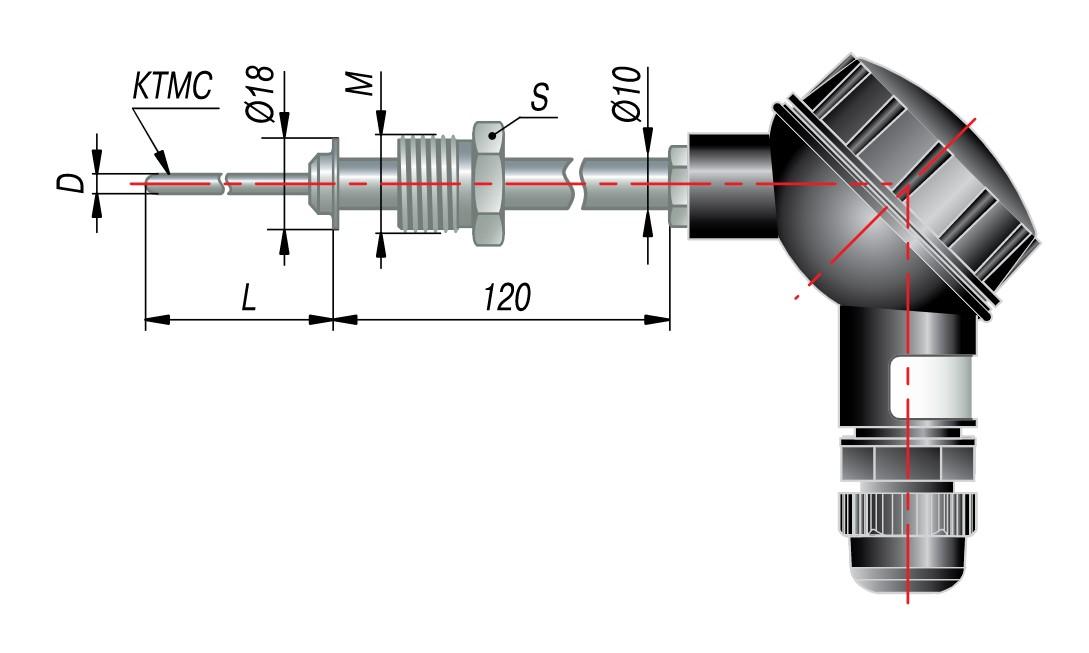 Датчик температуры на основе КТМС с коммутационной головкой ОВЕН ДТПК285-0915.800.1