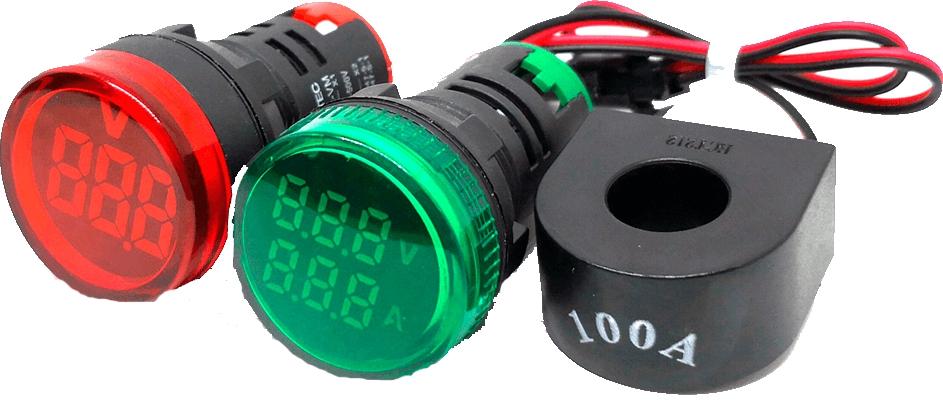 Цифровой индикатор напряжения и тока MEYERTEC MT22-VM3