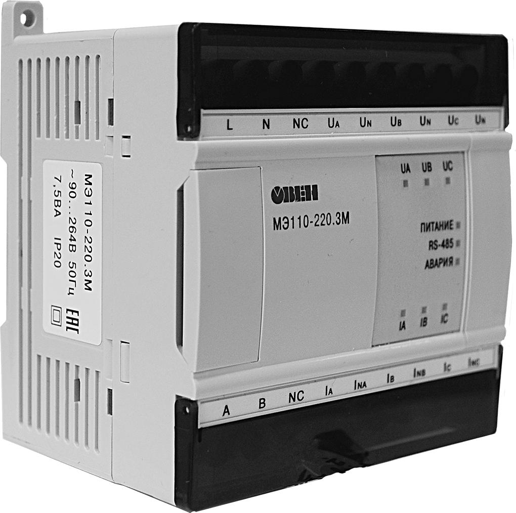 Модуль измерения параметров электрической сети ОВЕН МЭ110-220.3М