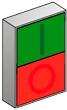 Кнопка с выступающим толкателем с пружинным возвратом MEYERTEC MTB2-BLZ1583