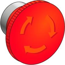 Кнопка с грибовидным толкателем, возврат поворотом MEYERTEC MTB2-BSZ1264