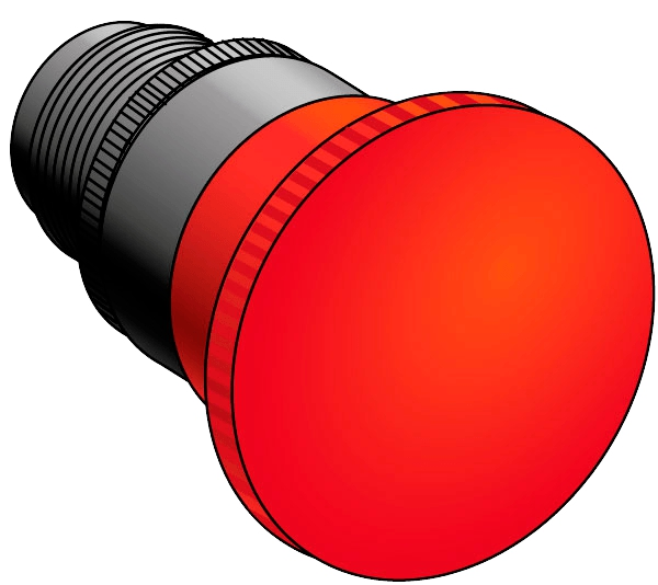 Головка кнопок управления с грибовидным толкателем MEYERTEC MTB2-ES54 (комплект 10 шт)