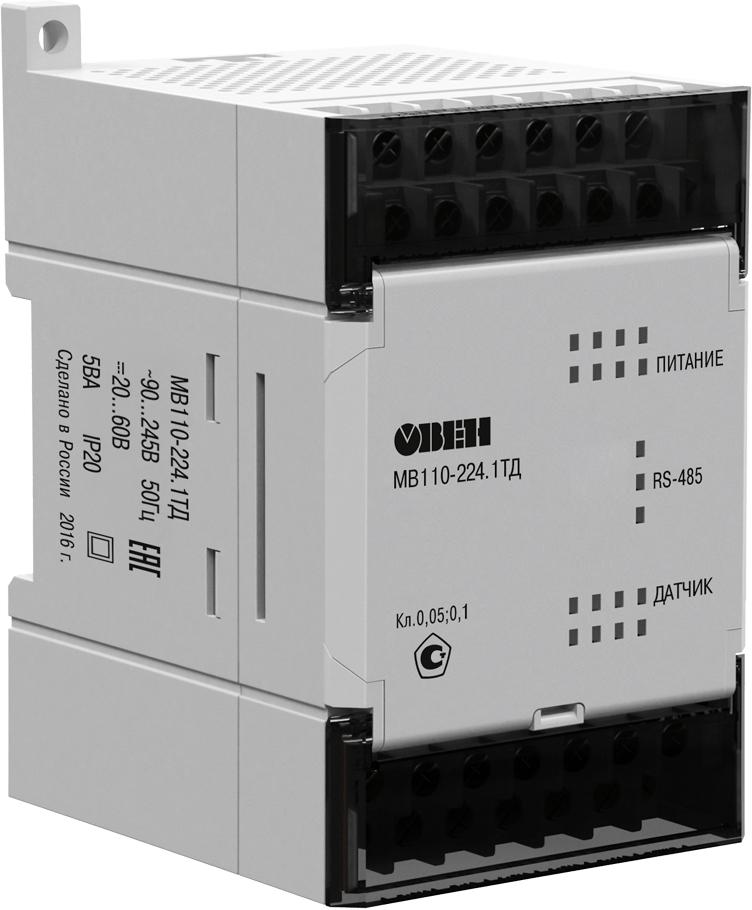 Модуль аналогового ввода сигналов тензодатчиков ОВЕН МВ110-224.1ТД