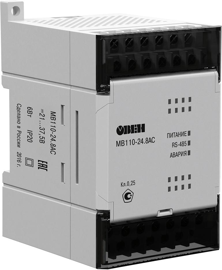 Модуль аналогового ввода с быстрыми входами ОВЕН МВ110-24.8АС