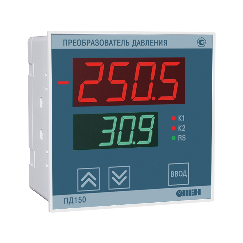 Измеритель низкого давления электронный для котельных и вентиляции ОВЕН ПД150-ДИВ1,25К-809-0,5-1-Р
