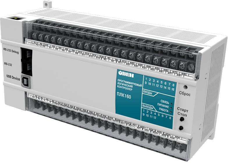Контроллер для средних систем автоматизации ОВЕН ПЛК160-24.И-М