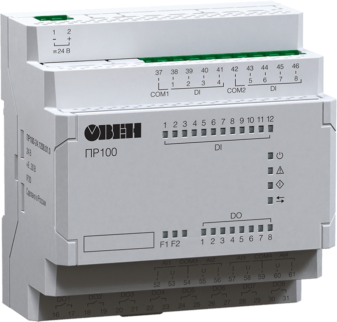 Компактное программируемое реле для локальных систем автоматизации ОВЕН ПР100-230.1208.01.0