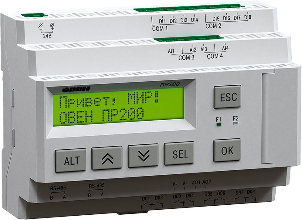Программируемое реле с дисплеем ОВЕН ПР200-220.24.0.0