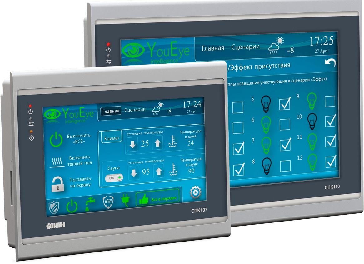 Панель оператора программируемая (панельный контроллер) ОВЕН СПК107