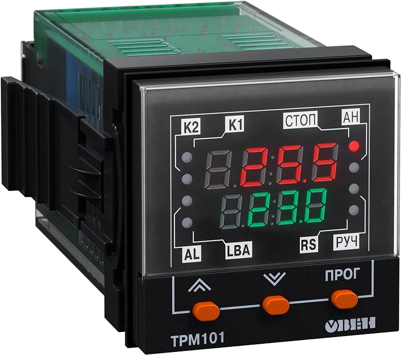 ПИД-регулятор с универсальным входом в корпусе 48×48мм ОВЕН ТРМ101-ТР