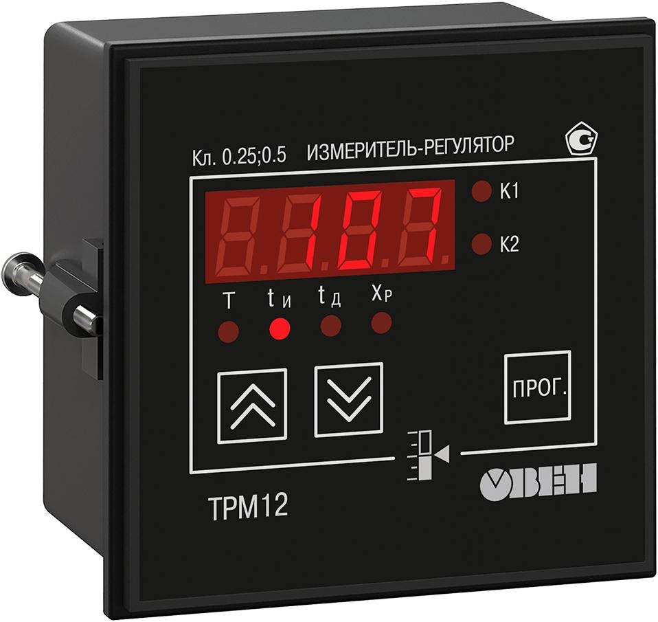 ПИД-регулятор с универсальным входом для задвижек ОВЕН ТРМ12-Щ1.У.К