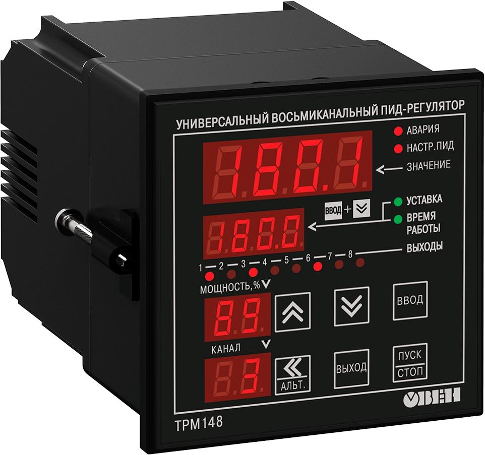 Восьмиканальный ПИД-регулятор с RS-485 ОВЕН ТРМ148-ИИККРРРР