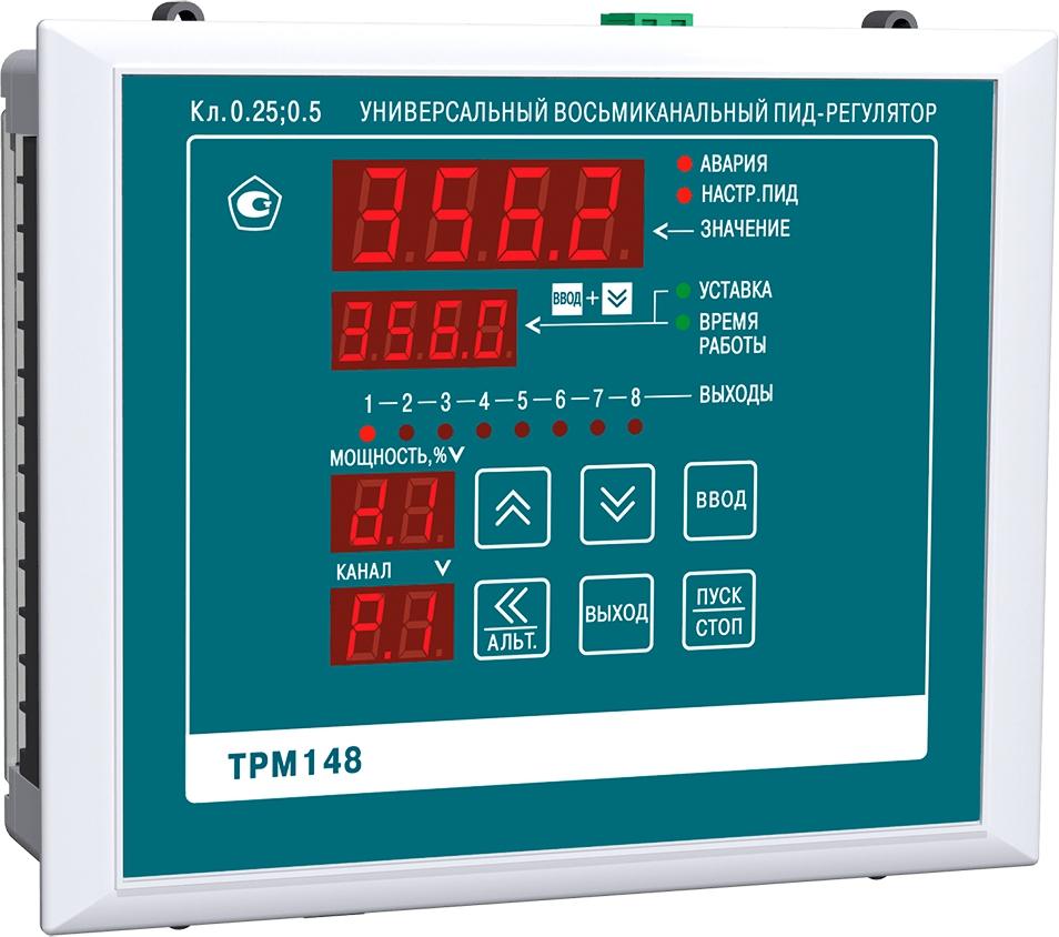 Восьмиканальный ПИД-регулятор с RS-485 ОВЕН ТРМ148-ТТТТРРРР.Щ7