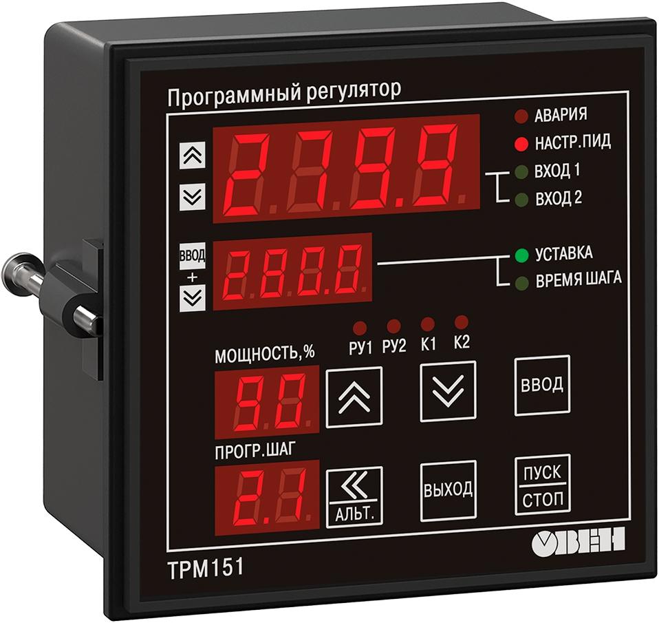 Двухканальный ПИД-регулятор с RS-485 ОВЕН ТРМ151-Щ1.КР.09