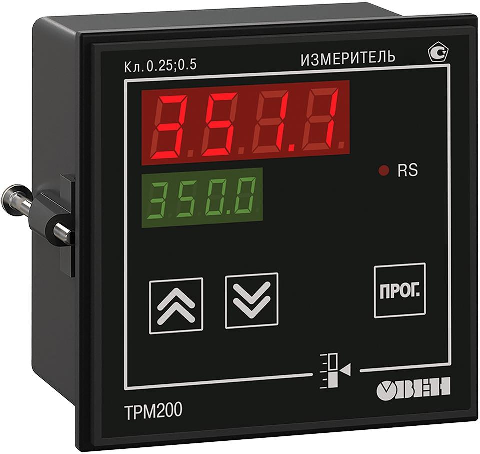 Двухканальный измеритель с универсальным входом и RS-485 ОВЕН ТРМ200-Щ1