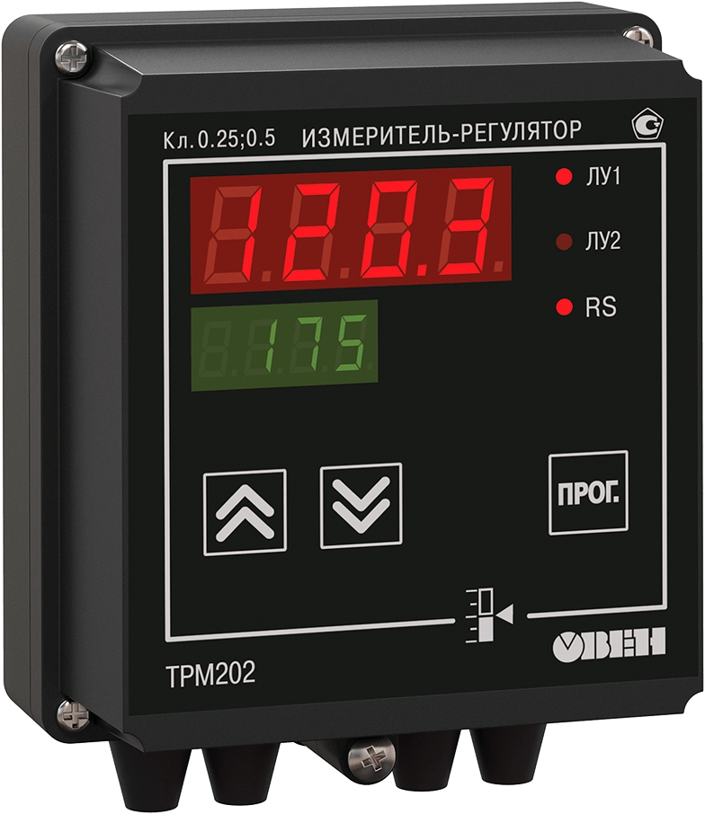 Двухканальный регулятор с универсальным входом и RS-485 ОВЕН ТРМ202-Н.ТТ