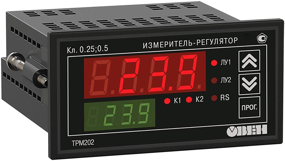Двухканальный регулятор с универсальным входом и RS-485 ОВЕН ТРМ202-Щ2.ТТ