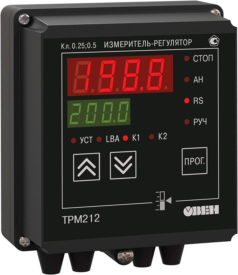 ПИД-регулятор с универсальным входом для задвижек с RS-485 ОВЕН ТРМ212-Н.РР