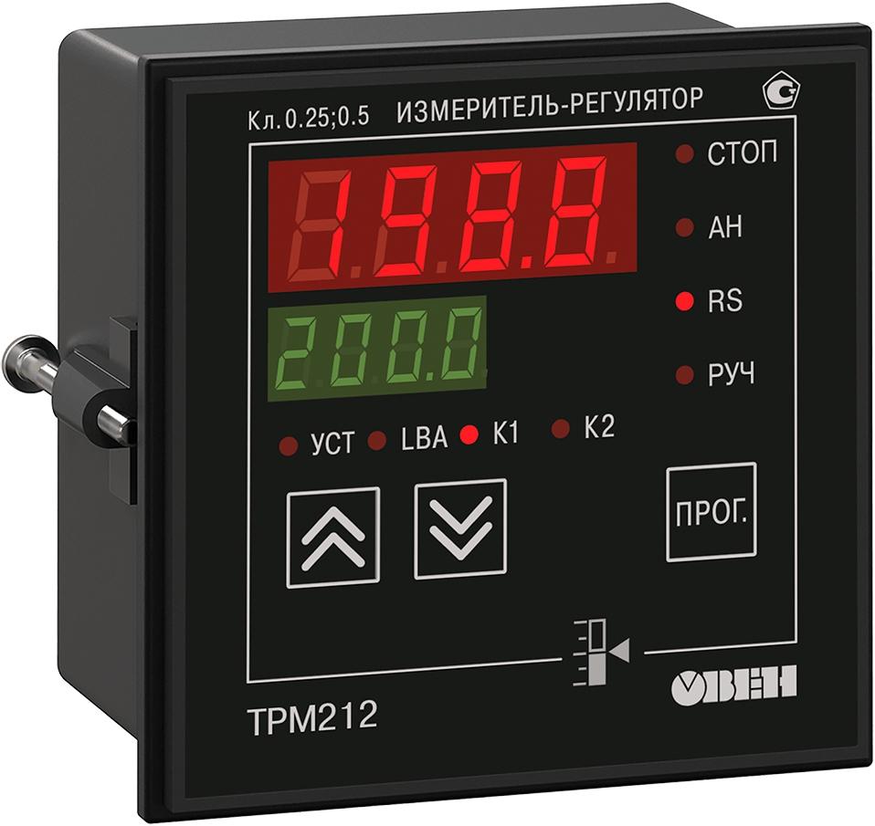 ПИД-регулятор с универсальным входом для задвижек с RS-485 ОВЕН ТРМ212-Щ1.ИТ