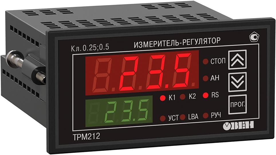 ПИД-регулятор с универсальным входом для задвижек с RS-485 ОВЕН ТРМ212-Щ2.ИК