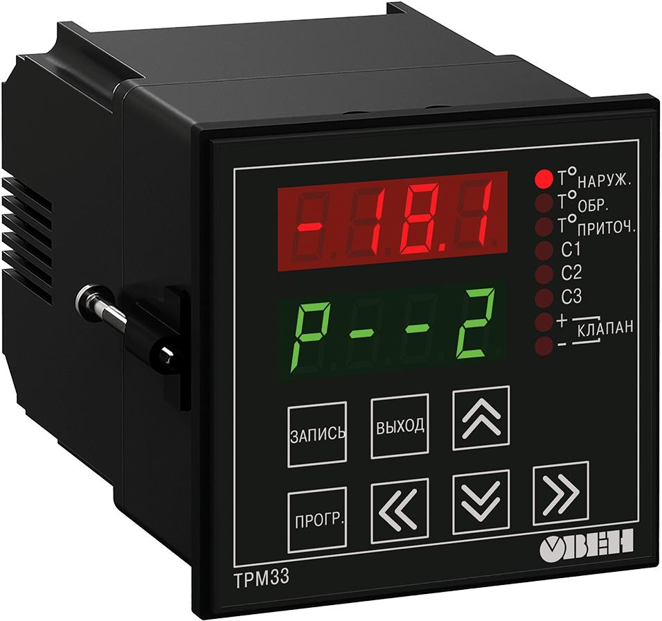 Контроллер для приточной вентиляции ОВЕН ТРМ33-Щ4.01