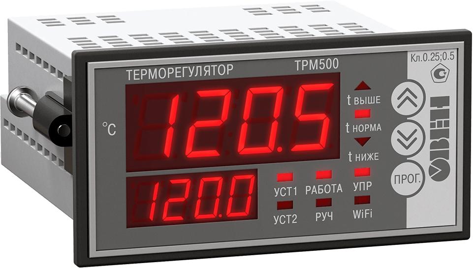 Экономичный терморегулятор с мощным реле и крупным индикатором ОВЕН ТРМ500-Щ2.5А