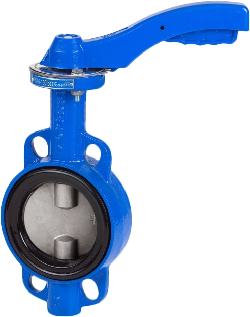 Затвор дисковый поворотный межфланцевый чугунный Genebre 2109-14 PN16 DN150