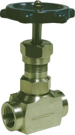 Клапан запорный игольчатый резьбовой из углеродистой стали Genebre 2221-04 PN220 DN15