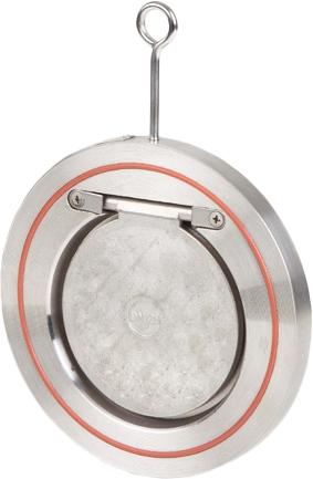 Клапан обратный одностворчатый межфланцевый из нержавеющей стали Genebre 2406-12 PN16 DN100