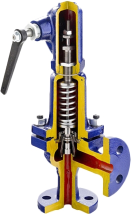 Клапан предохранительный стальной фланцевый ZETKAMA 240F-065-E-011 PN40 DN65